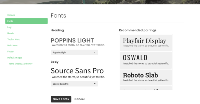 Picking Your Fonts