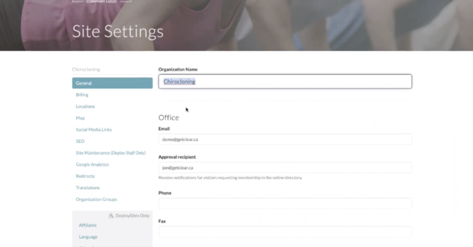 Overview of Settings